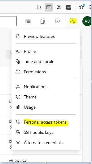 Azure DevOps Create PAT