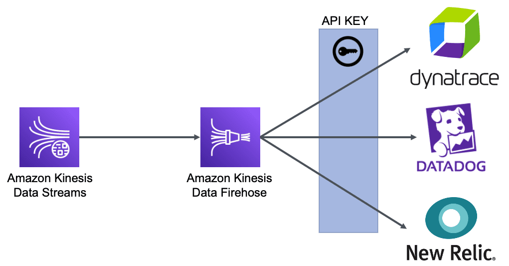 Chart shows integrations with providers done through an API KEY