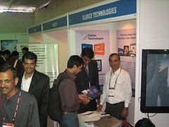 Ankur and Hemant at the Clarice stall