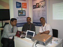 L To R Ankur, Sandeep, Shashank at the Clarice demo stall