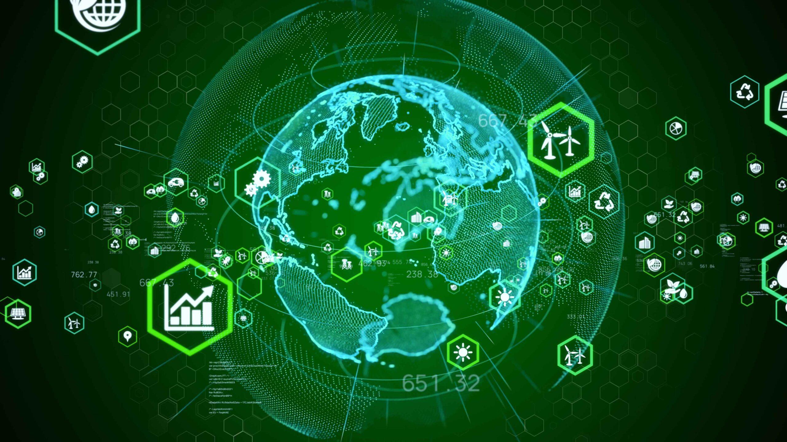 planeta tierra verde digital